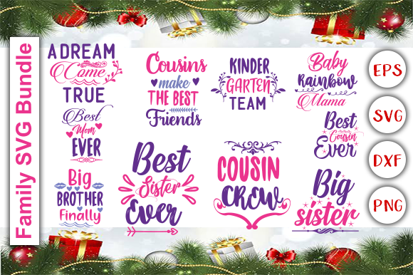 Download Free Family Bundle Graphic By Graphics Cafe Creative Fabrica for Cricut Explore, Silhouette and other cutting machines.
