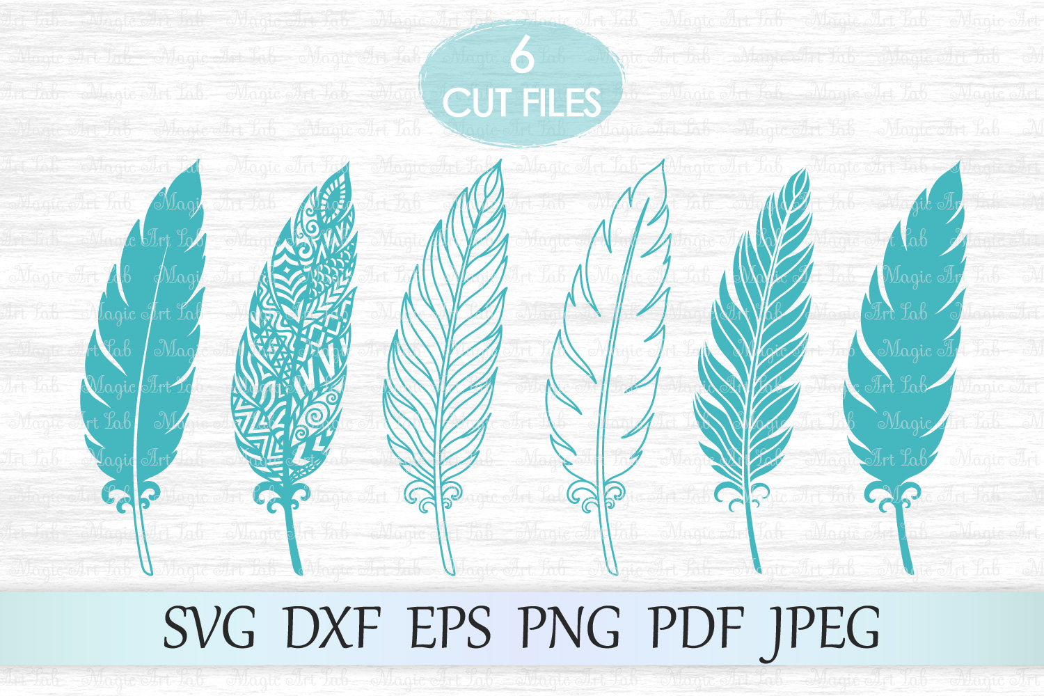 Download Free Feather Graphic By Magicartlab Creative Fabrica for Cricut Explore, Silhouette and other cutting machines.