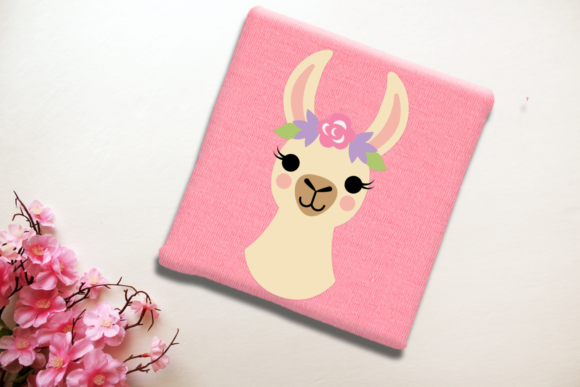 Download Free Flower Crown Llama Graphic By Risarocksit Creative Fabrica for Cricut Explore, Silhouette and other cutting machines.
