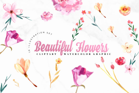 Flowers Watercolor Set Graphic Crafts By TMint - Image 1