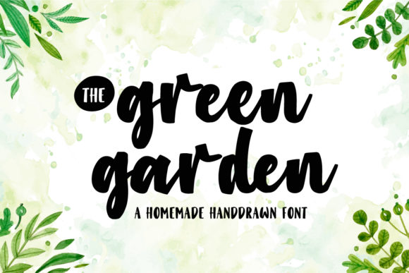 Print on Demand: Green Garden Script & Handwritten Font By Dikas Studio