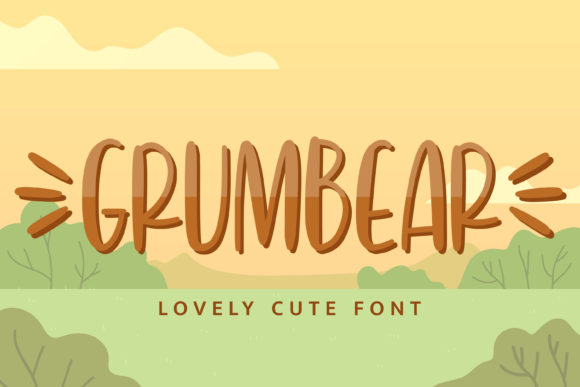 Print on Demand: Grumbear Script & Handwritten Font By almarkhatype