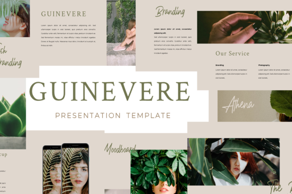 Print on Demand: Guinevere Presentation Template Graphic Presentation Templates By ovoz.graphics