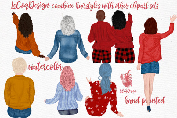 Hairstyles Clipart, Girls Hairstyles Graphic Illustrations By LeCoqDesign - Image 3