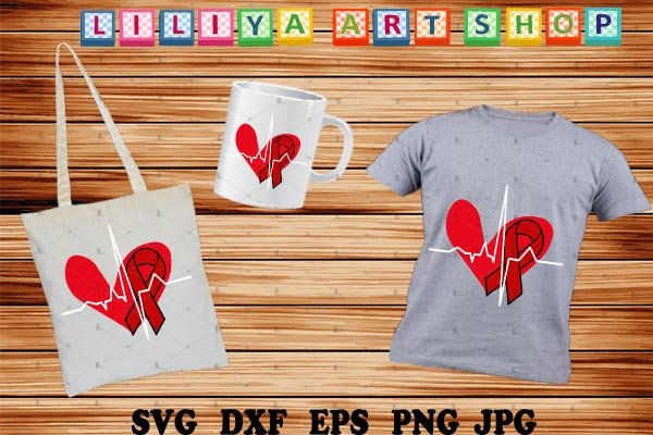 Download Free Heart Disease Awareness Svg Graphic By Liliyaartshop Creative for Cricut Explore, Silhouette and other cutting machines.