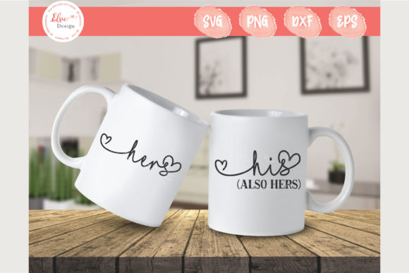 His (Also Hers) and Hers Graphic Crafts By ElsieLovesDesign
