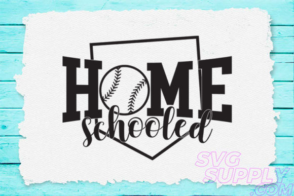 Download Free Home Schooled For Baseball Tshirt Graphic By Svgsupply for Cricut Explore, Silhouette and other cutting machines.