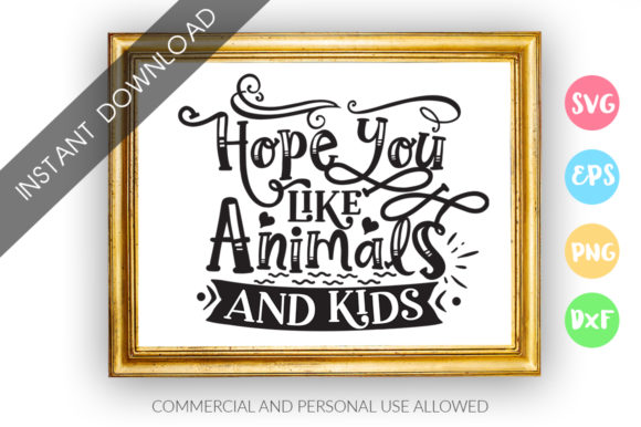 Print on Demand: Hope You Like Animals and Kids Graphic Crafts By DesignFarm