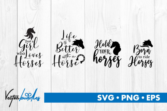 Download Free Horse Quotes Graphic By Vectorbundles Creative Fabrica for Cricut Explore, Silhouette and other cutting machines.
