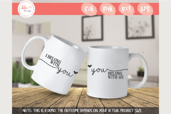 I Belong with You You Belong with Me Graphic Crafts By ElsieLovesDesign
