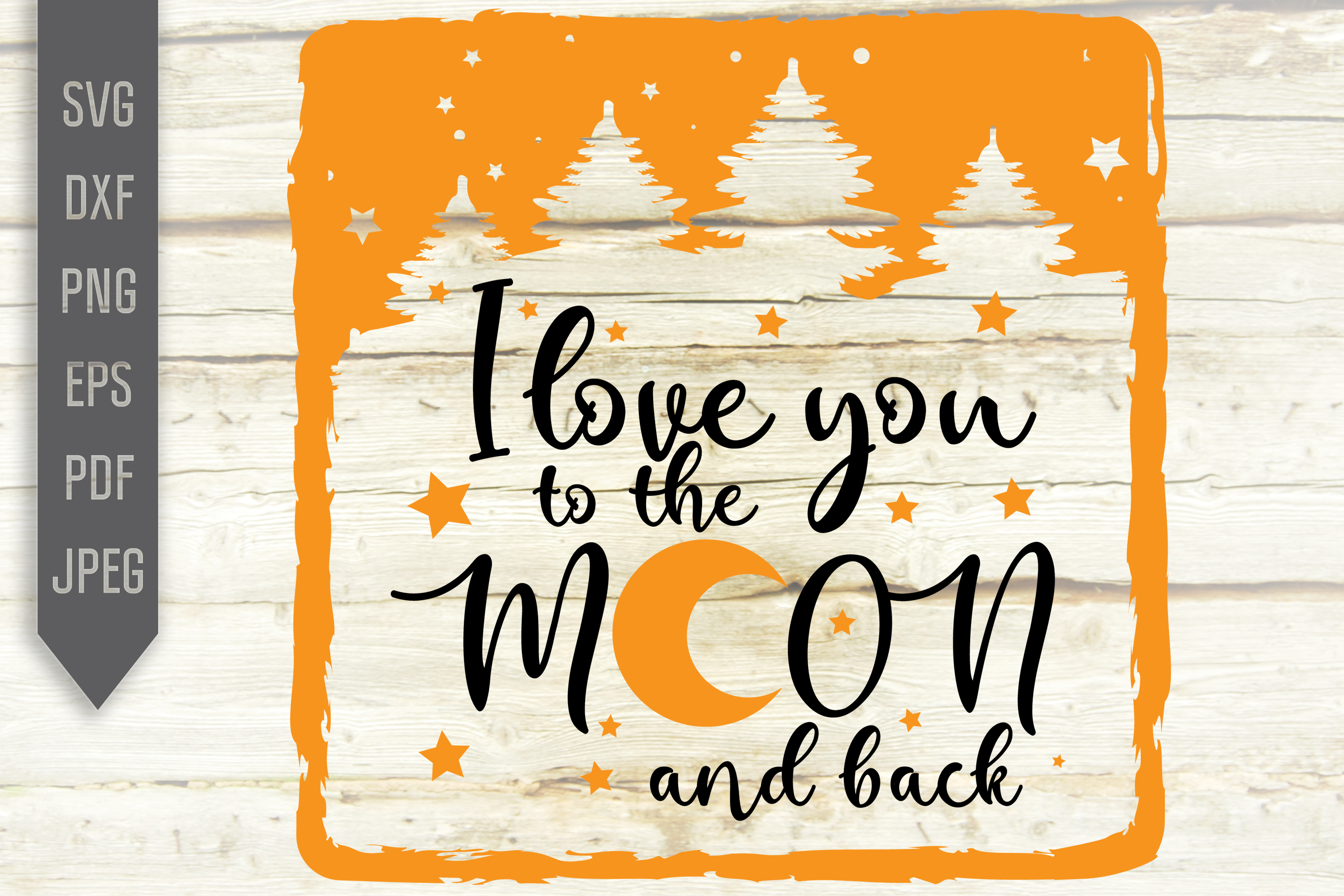 Download Free I Love You To The Moon And Back Svg Graphic By Svglaboratory for Cricut Explore, Silhouette and other cutting machines.