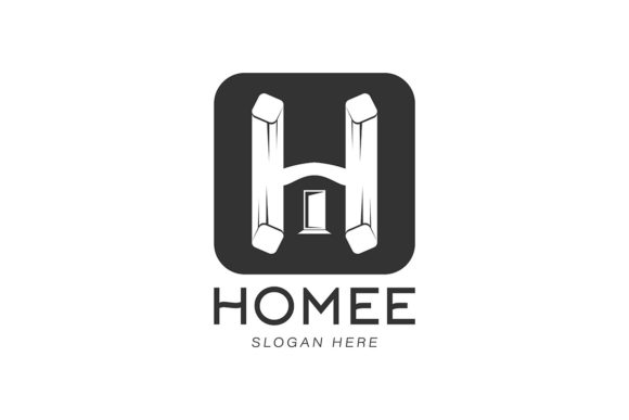 Download Free Initial Letter H House Home Modern Logo Graphic By for Cricut Explore, Silhouette and other cutting machines.