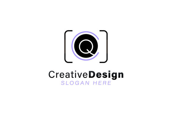 Download Free Initial Letter Q Modern Lens Camera Logo Graphic By for Cricut Explore, Silhouette and other cutting machines.