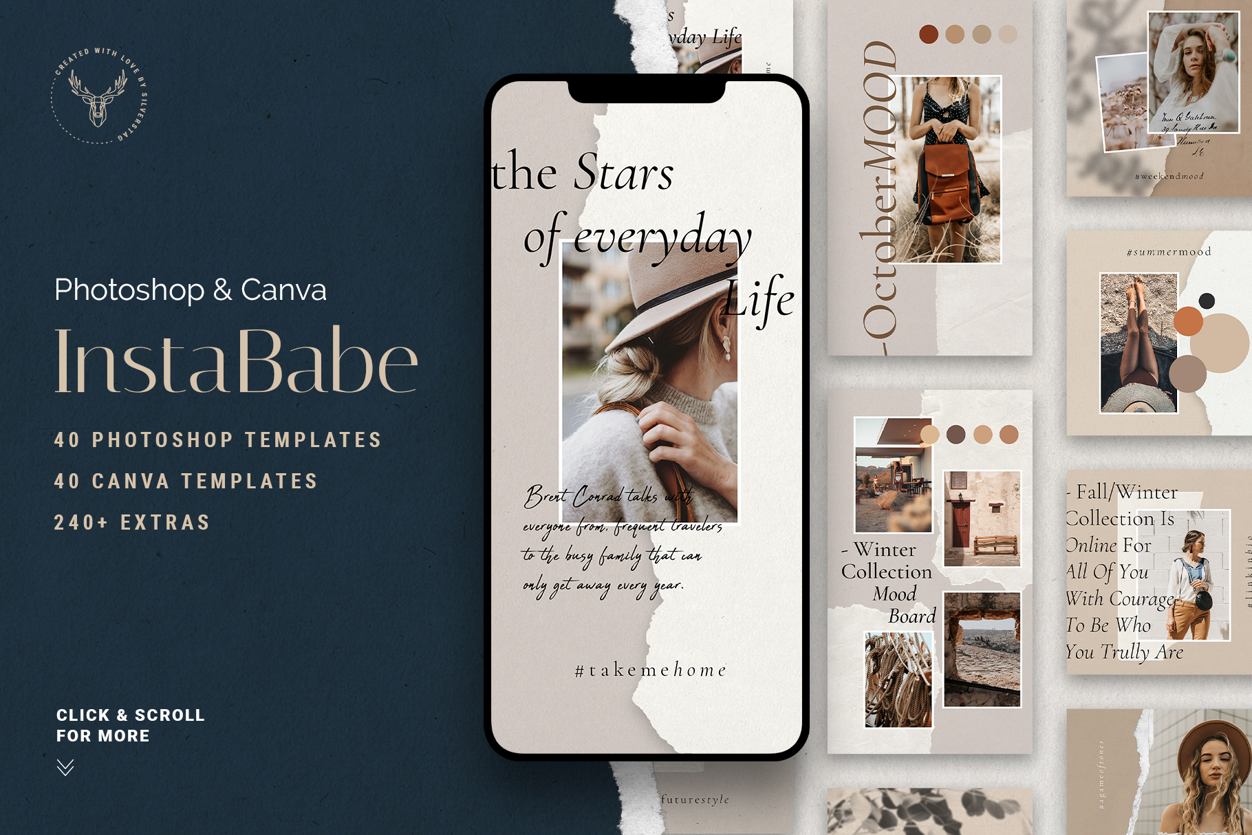 Download Free Instababe Ps Canva Posts And Stories Graphic By Silverstag for Cricut Explore, Silhouette and other cutting machines.