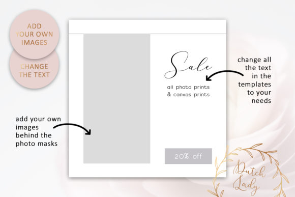 Instagram Post Template Set 1 Graphic By Daphnepopuliers
