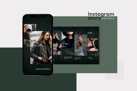 Print on Demand: Instagram Story Template Graphic Graphic Templates By ovoz.graphics - Image 2