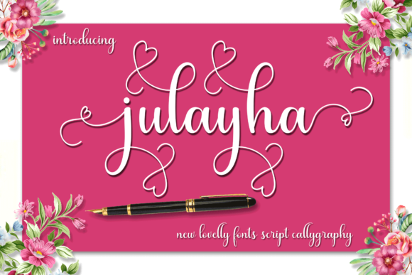 Print on Demand: Julayha Script & Handwritten Font By MYdesign
