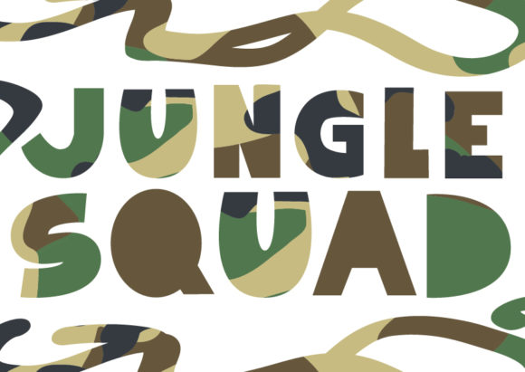 Print on Demand: Jungle Squad - SVG EPS Font Graphic Crafts By GraphicsBam Fonts