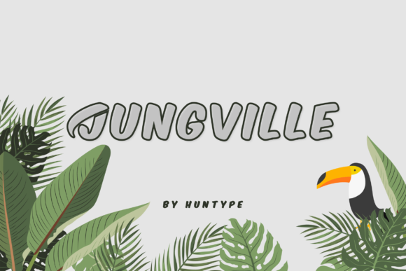 Print on Demand: Jungville Outline Display Font By Huntype