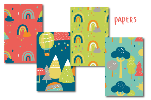 Print on Demand: Kids Patterns Graphic Patterns By poppymoondesign - Image 2