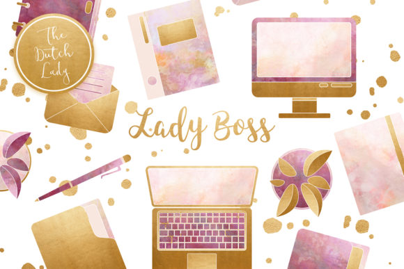 Lady Boss Office Clipart Set Graphic By Daphnepopuliers Creative Fabrica