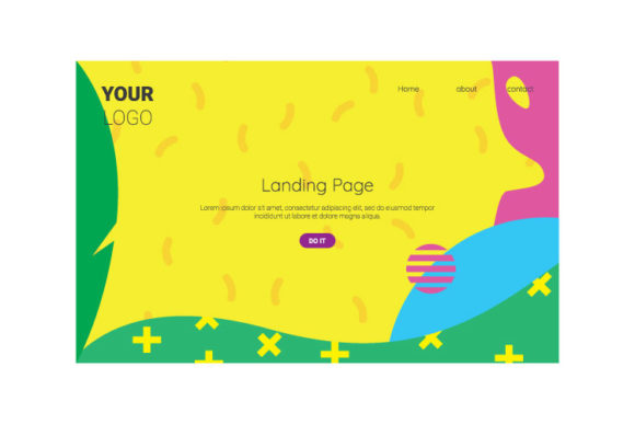 Print on Demand: Landing_Design_Tamplate_12 Graphic Landing Page Templates By kokostd
