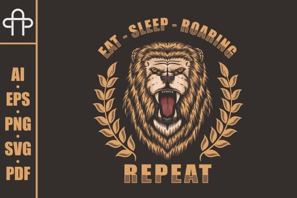 Print on Demand: Lion Roaring Illustration Graphic Illustrations By Andypp