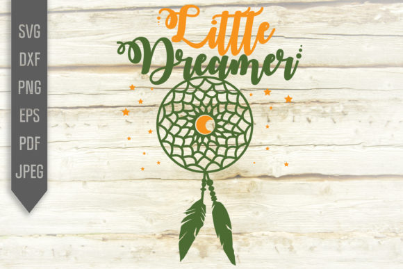 Download Free Little Dreamer Dream Catcher Design Graphic By Svglaboratory for Cricut Explore, Silhouette and other cutting machines.
