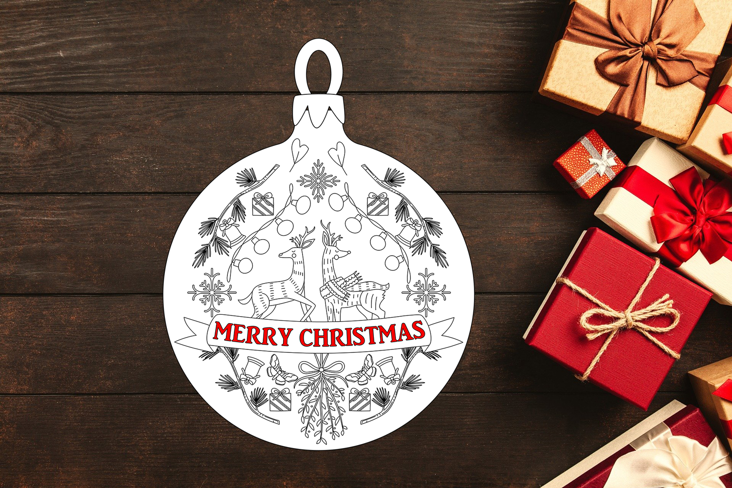 Download Free Merry Christmas Creative Fabrica for Cricut Explore, Silhouette and other cutting machines.
