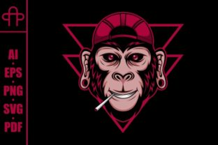 Print on Demand: Monkey Smoke Graphic Illustrations By Andypp
