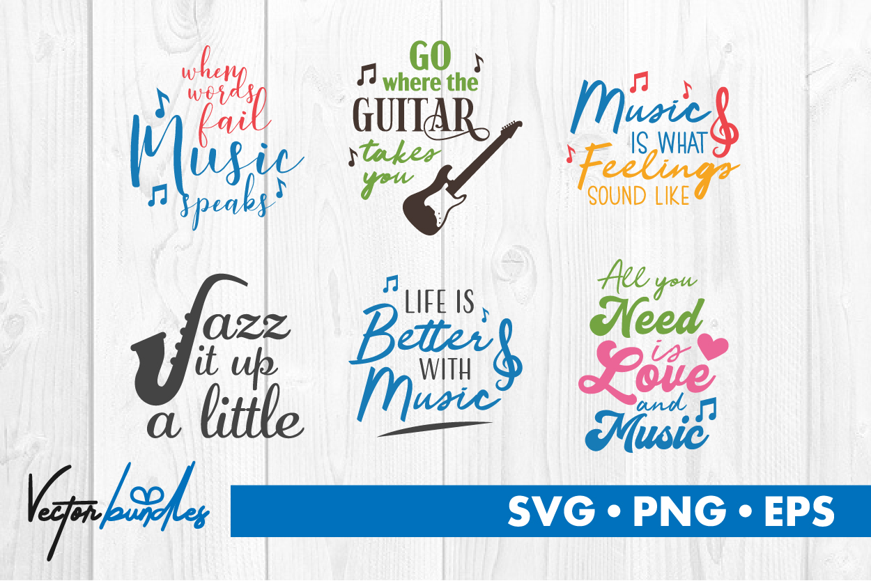 Download Free Music Quotes Graphic By Vectorbundles Creative Fabrica for Cricut Explore, Silhouette and other cutting machines.