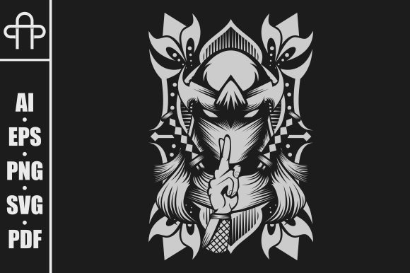 Print on Demand: Ninja Female Graphic Illustrations By Andypp