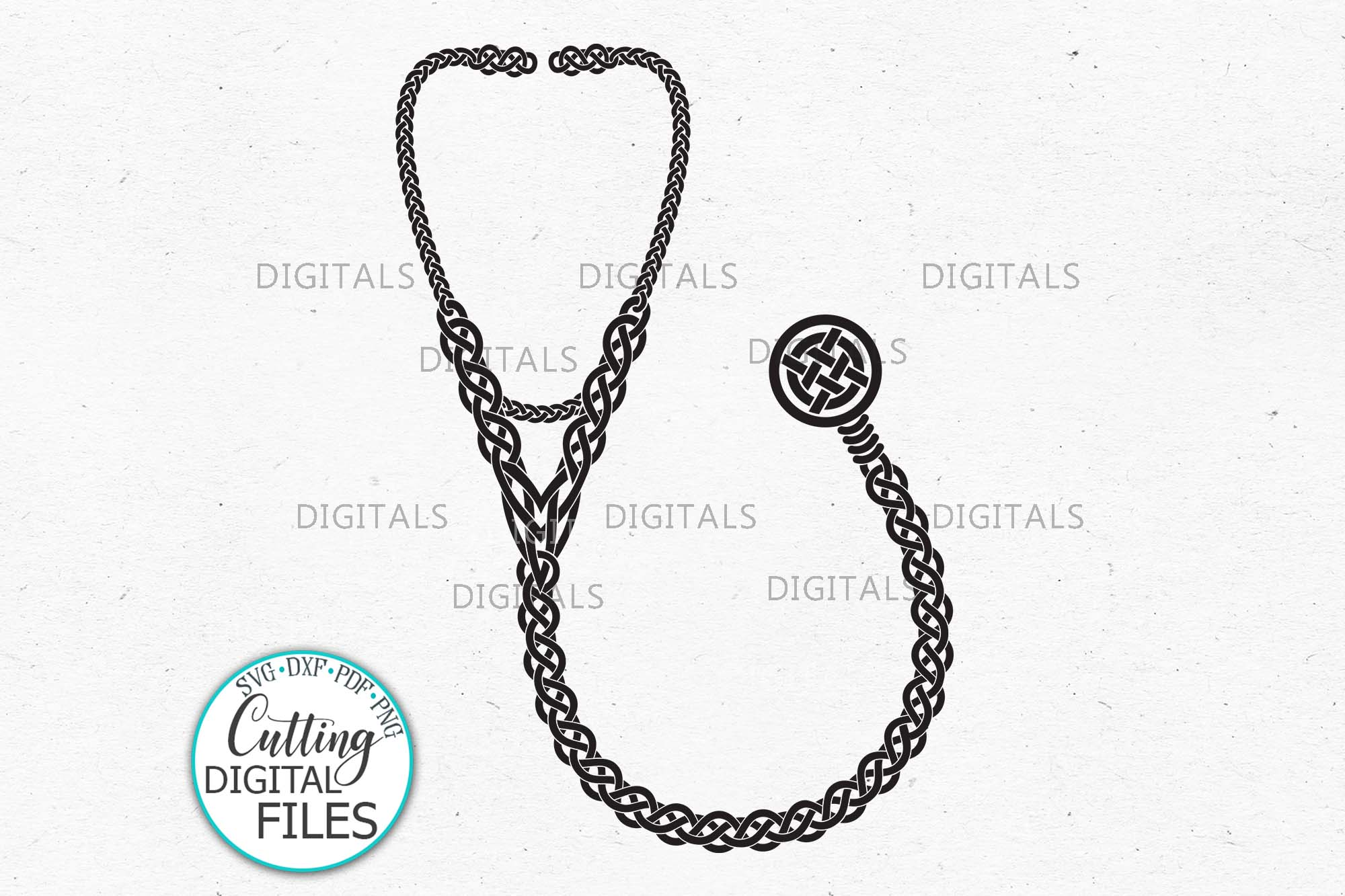 Download Free Nurse Sign Celtic Knots Stethoscope Svg Graphic By Cornelia for Cricut Explore, Silhouette and other cutting machines.