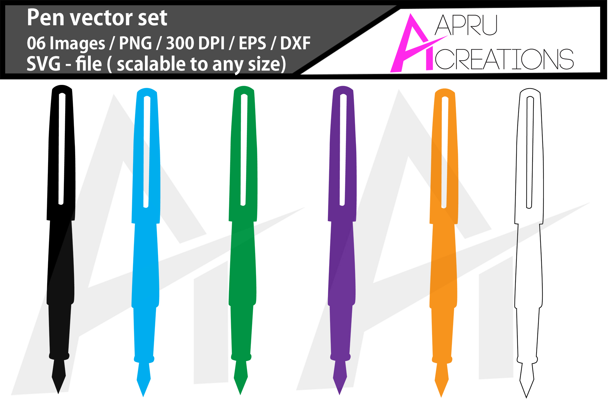 Download Free Pen Silhouette Pen Svg Pen Clipart Graphic By Aparnastjp for Cricut Explore, Silhouette and other cutting machines.