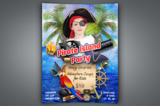 Print on Demand: Pirate Island Party Flyer Template Graphic Print Templates By OWPictures