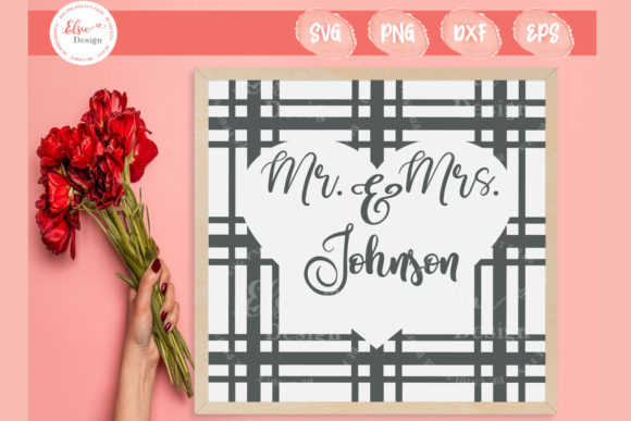 Plaid - Mr. and Mrs. Graphic Crafts By ElsieLovesDesign