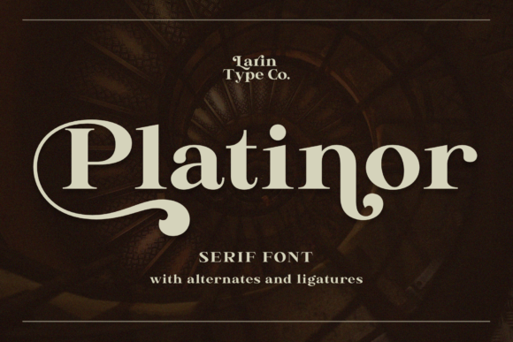 Print on Demand: Platinor Display Font By Pasha Larin