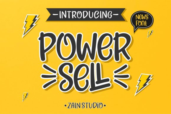 Print on Demand: Power Sell Display Font By zainstudio