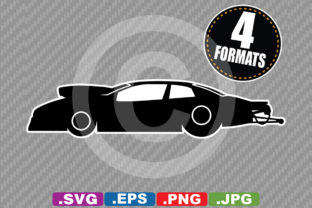 Download Free Pro Stock Dragster Race Car Silhouette Graphic By for Cricut Explore, Silhouette and other cutting machines.