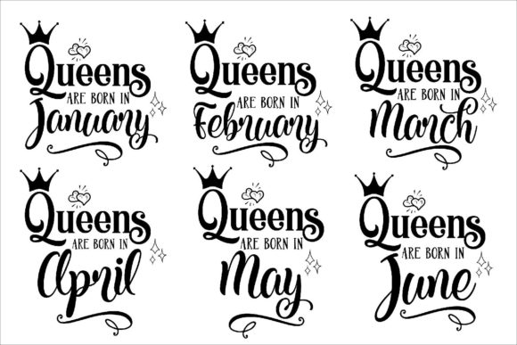 Download Free Queens Are Born In Bundle Svg Files Graphic By Fantasy Svg for Cricut Explore, Silhouette and other cutting machines.