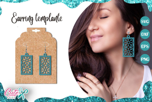 Rectangle Earrings Template Cut File Graphic Illustrations By Cute files