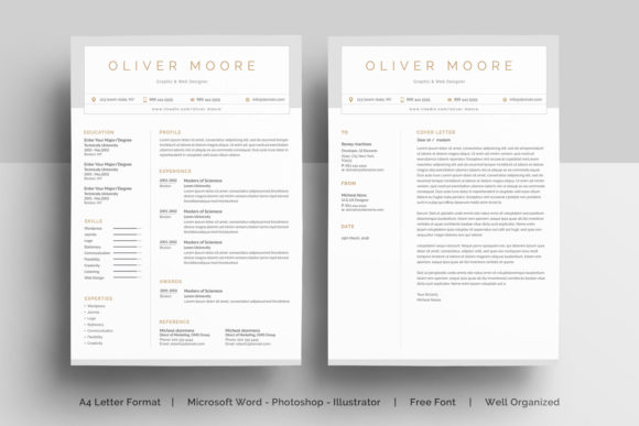 Resume Template Graphic Print Templates By etiranipaul91