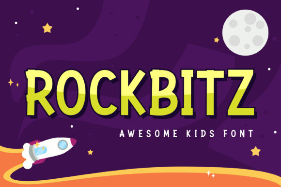 Print on Demand: Rockbitz Display Font By almarkhatype