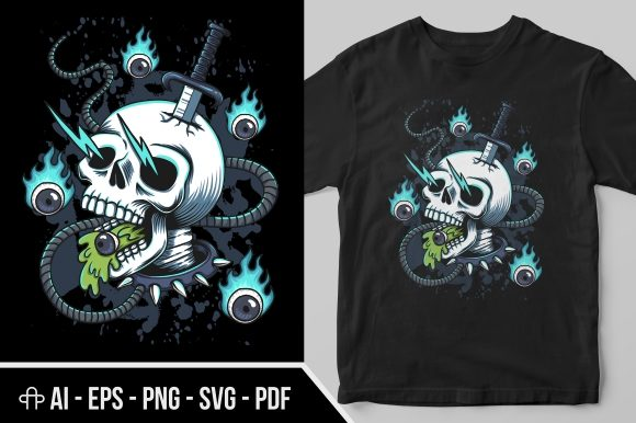 Print on Demand: Skull Fire Eye Illustration Graphic Illustrations By Andypp