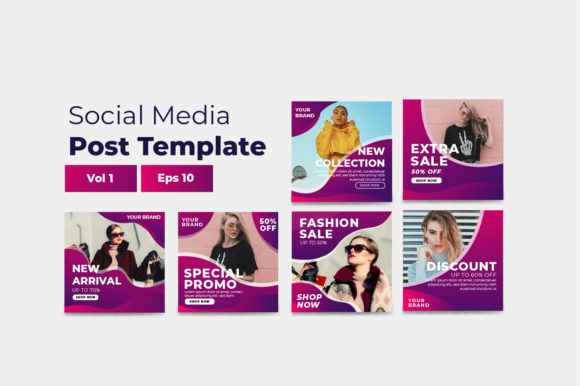 Social Media Post Graphic Vol 1 Graphic Print Templates By OKEVECTOR