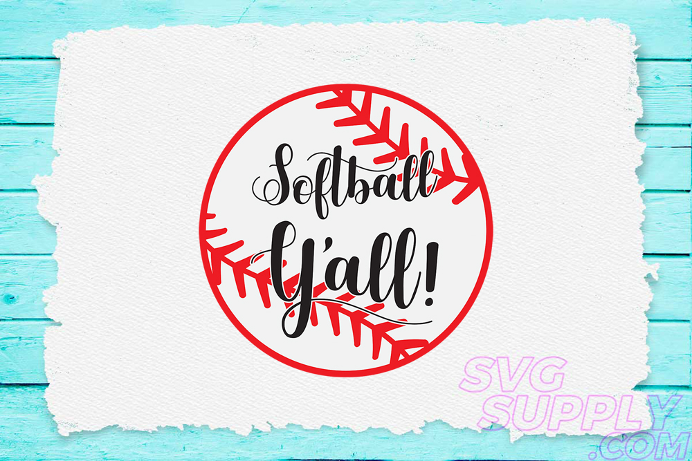 Download Free Softball Y All Svg For Baseball Tshirt Graphic By Svgsupply for Cricut Explore, Silhouette and other cutting machines.