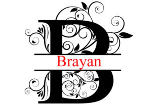 Download Free Split Monogram Letters A Z Graphic By Goran Stojanovic for Cricut Explore, Silhouette and other cutting machines.