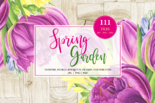 Print on Demand: Spring Garden Watercolor Set Grafik Illustrationen von tpushnaya