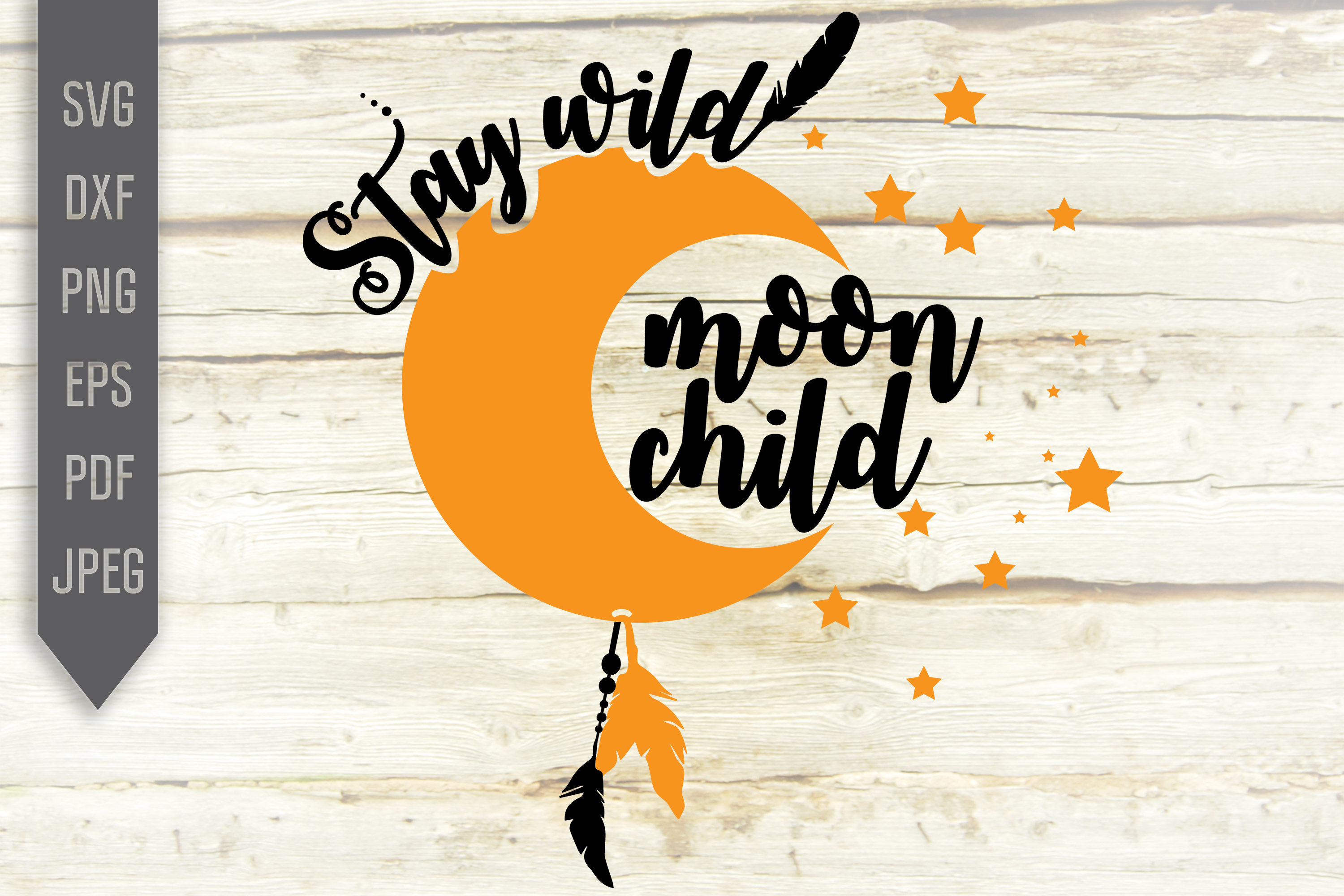 Download Free Stay Wild Moon Child Svg Baby Design Graphic By Svglaboratory for Cricut Explore, Silhouette and other cutting machines.