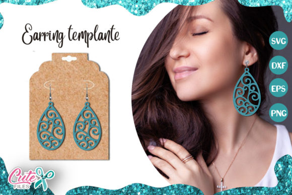 Tear Drop Earrings Template Cut File Graphic Illustrations By Cute files